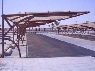 مظلات وسواتر الاختيار الاول - مظلات كابولي - تركيب الهناجر - مظلات مشاريع التخصصي - معرض الرياض