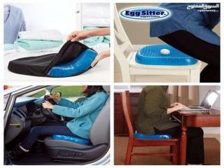 مقعد السيليكون الطبي مناسب لكرسي السياره و المكتب لمشاكل الظهر و العمود الفقري