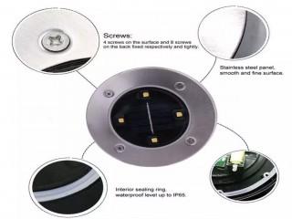مصابيح أرضية تعمل بالطاقة الشمسية،للحديقة و الممرات