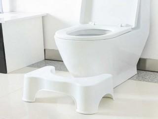 مسند اقدام للمرحاض كرسي مرحاض  الحمام مساعد وسادة للقدم إلى  رفع القدمين